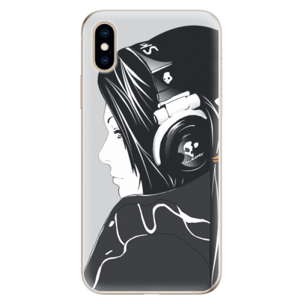 Odolné silikonové pouzdro iSaprio - Headphones - iPhone XS
