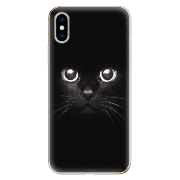 Odolné silikonové pouzdro iSaprio - Black Cat - iPhone XS