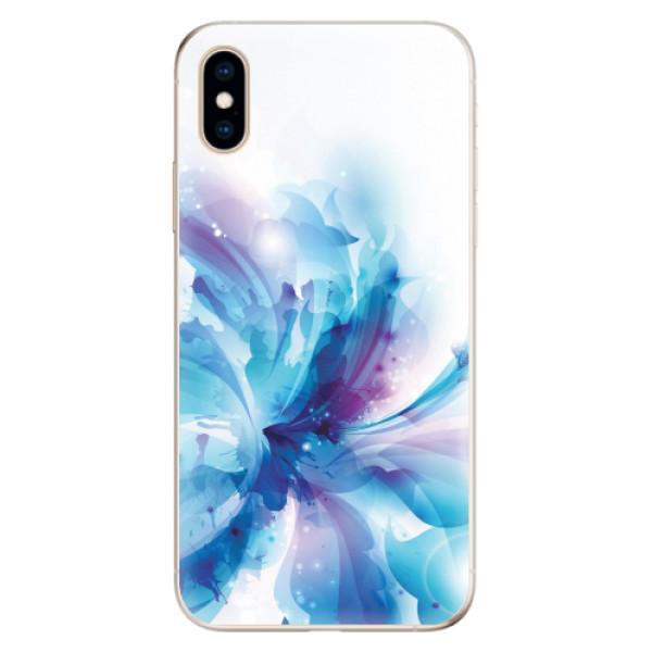 Odolné silikonové pouzdro iSaprio - Abstract Flower - iPhone XS
