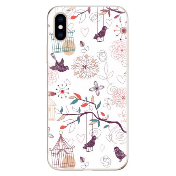 Odolné silikonové pouzdro iSaprio - Birds - iPhone XS