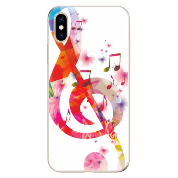 Odolné silikonové pouzdro iSaprio - Love Music - iPhone XS