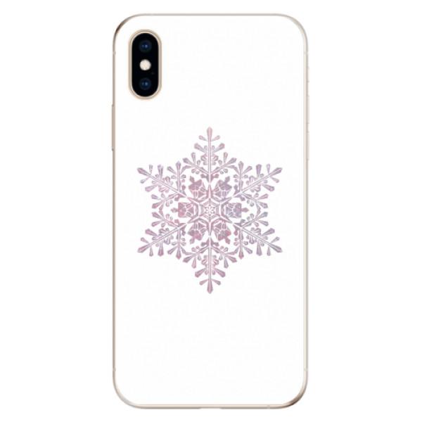 Odolné silikonové pouzdro iSaprio - Snow Flake - iPhone XS