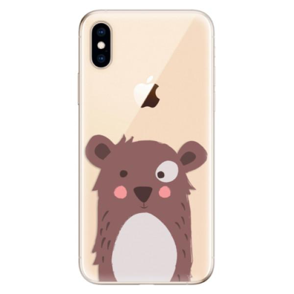 Odolné silikonové pouzdro iSaprio - Brown Bear - iPhone XS