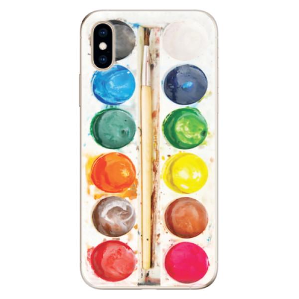 Odolné silikonové pouzdro iSaprio - Watercolors - iPhone XS