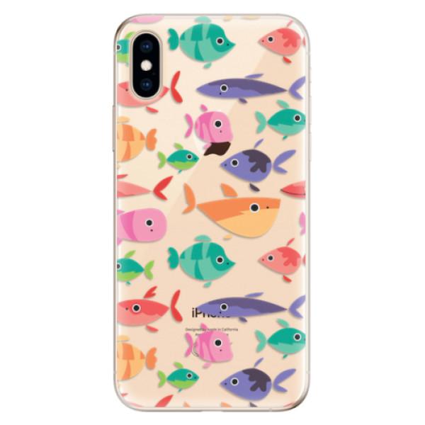 Odolné silikonové pouzdro iSaprio - Fish pattern 01 - iPhone XS