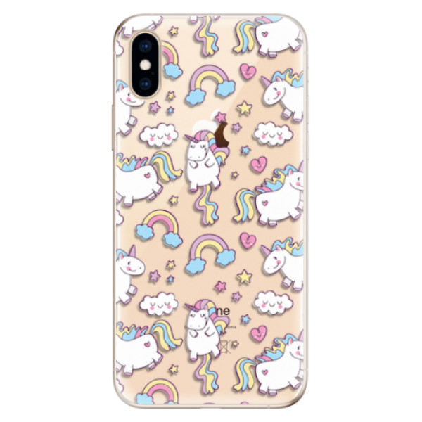 Odolné silikonové pouzdro iSaprio - Unicorn pattern 02 - iPhone XS