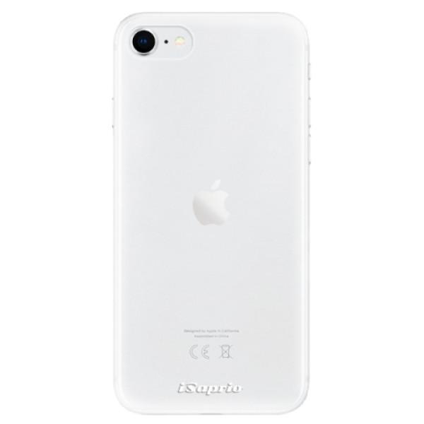 Odolné silikonové pouzdro iSaprio - 4Pure - mléčný bez potisku - iPhone SE 2020