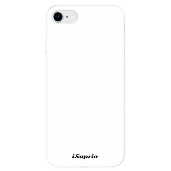 Odolné silikonové pouzdro iSaprio - 4Pure - bílý - iPhone SE 2020