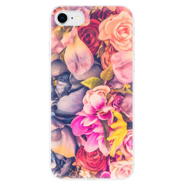 Odolné silikonové pouzdro iSaprio - Beauty Flowers - iPhone SE 2020