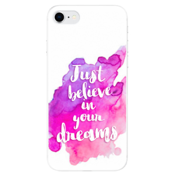 Odolné silikonové pouzdro iSaprio - Believe - iPhone SE 2020