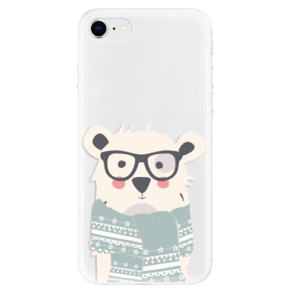 Odolné silikonové pouzdro iSaprio - Bear with Scarf - iPhone SE 2020