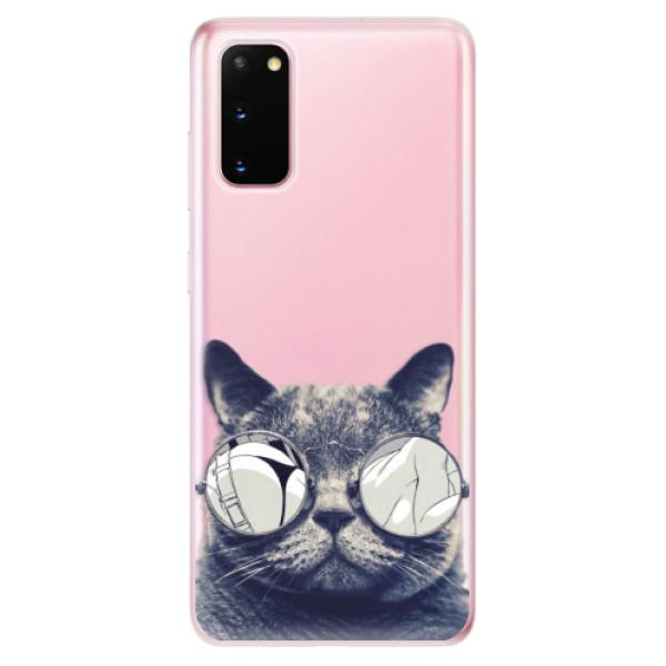 Odolné silikonové pouzdro iSaprio - Crazy Cat 01 - Samsung Galaxy S20