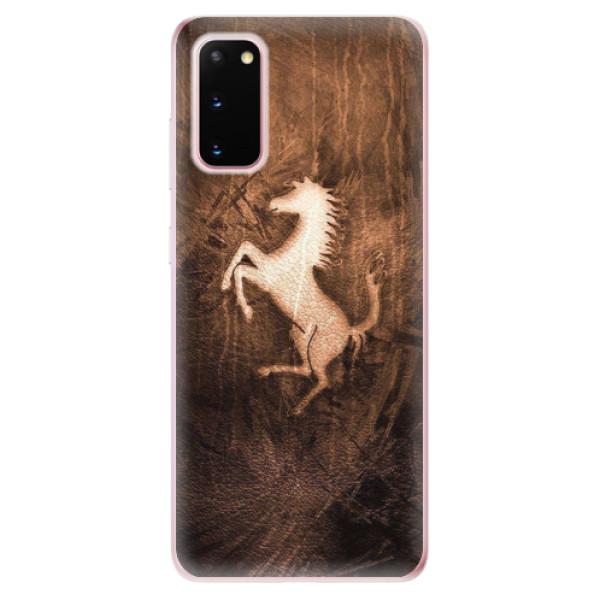 Odolné silikonové pouzdro iSaprio - Vintage Horse - Samsung Galaxy S20