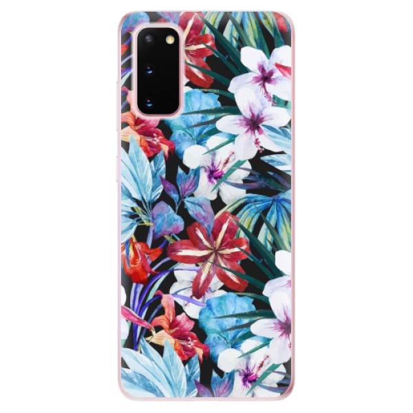 Odolné silikonové pouzdro iSaprio - Tropical Flowers 05 - Samsung Galaxy S20