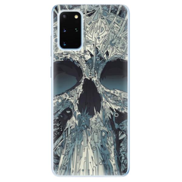 Odolné silikonové pouzdro iSaprio - Abstract Skull - Samsung Galaxy S20+