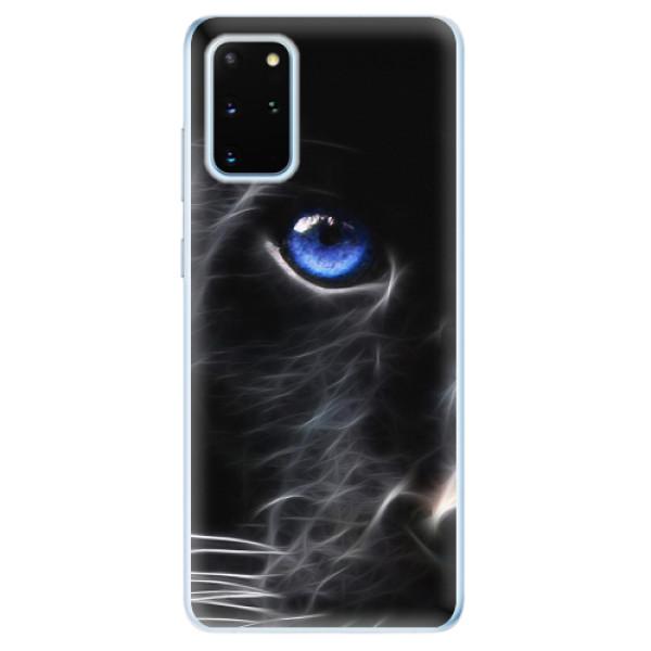 Odolné silikonové pouzdro iSaprio - Black Puma - Samsung Galaxy S20+