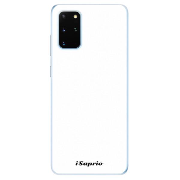 Odolné silikonové pouzdro iSaprio - 4Pure - bílý - Samsung Galaxy S20+
