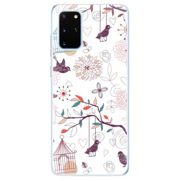 Odolné silikonové pouzdro iSaprio - Birds - Samsung Galaxy S20+