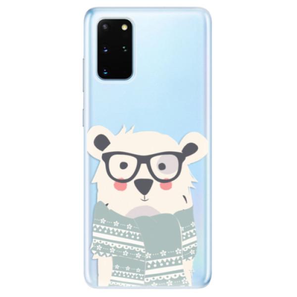 Odolné silikonové pouzdro iSaprio - Bear with Scarf - Samsung Galaxy S20+