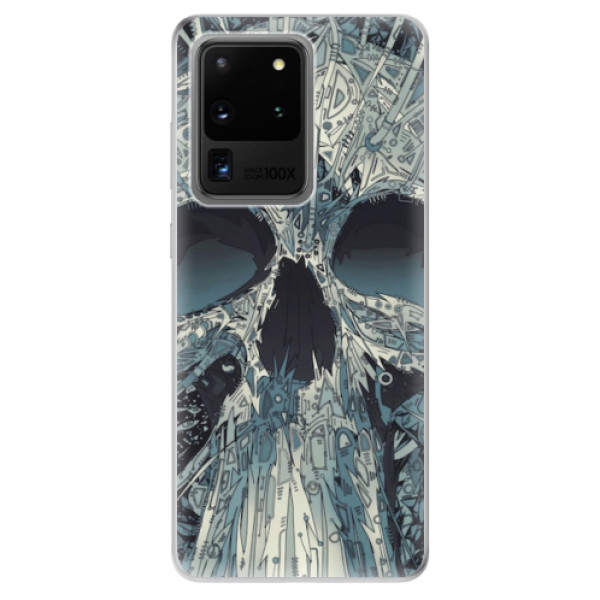 Odolné silikonové pouzdro iSaprio - Abstract Skull - Samsung Galaxy S20 Ultra