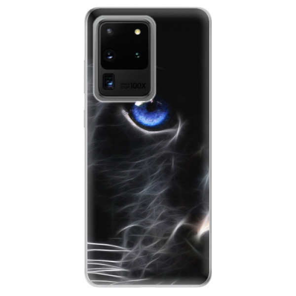 Odolné silikonové pouzdro iSaprio - Black Puma - Samsung Galaxy S20 Ultra