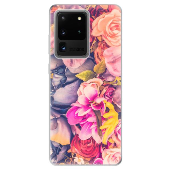 Odolné silikonové pouzdro iSaprio - Beauty Flowers - Samsung Galaxy S20 Ultra