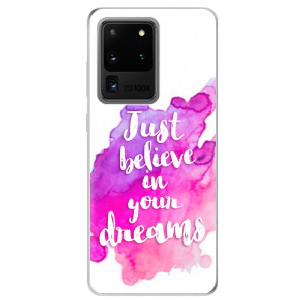 Odolné silikonové pouzdro iSaprio - Believe - Samsung Galaxy S20 Ultra