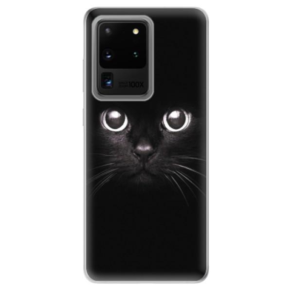 Odolné silikonové pouzdro iSaprio - Black Cat - Samsung Galaxy S20 Ultra
