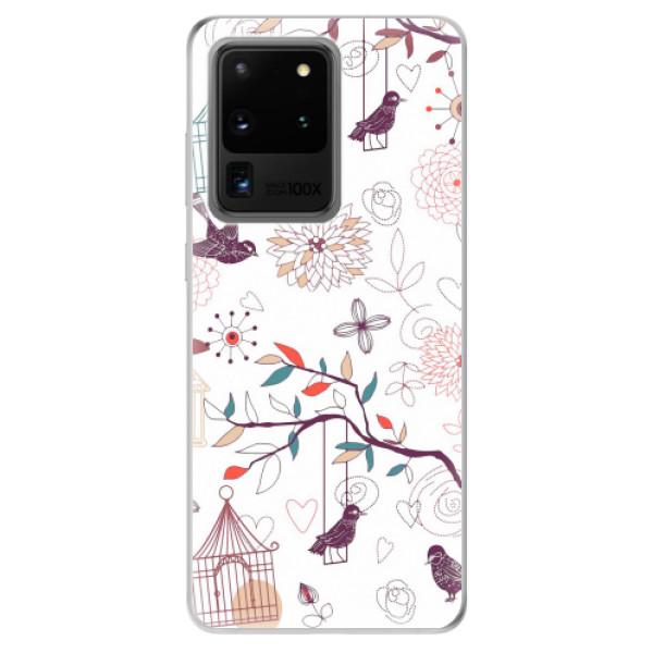 Odolné silikonové pouzdro iSaprio - Birds - Samsung Galaxy S20 Ultra