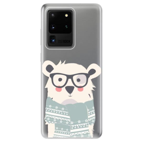 Odolné silikonové pouzdro iSaprio - Bear with Scarf - Samsung Galaxy S20 Ultra