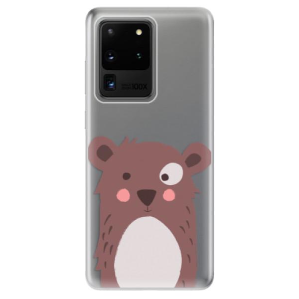 Odolné silikonové pouzdro iSaprio - Brown Bear - Samsung Galaxy S20 Ultra