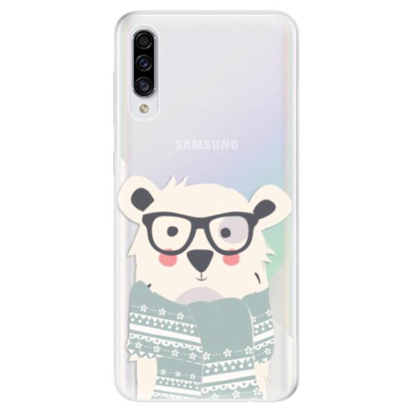 Odolné silikonové pouzdro iSaprio - Bear with Scarf - Samsung Galaxy A30s