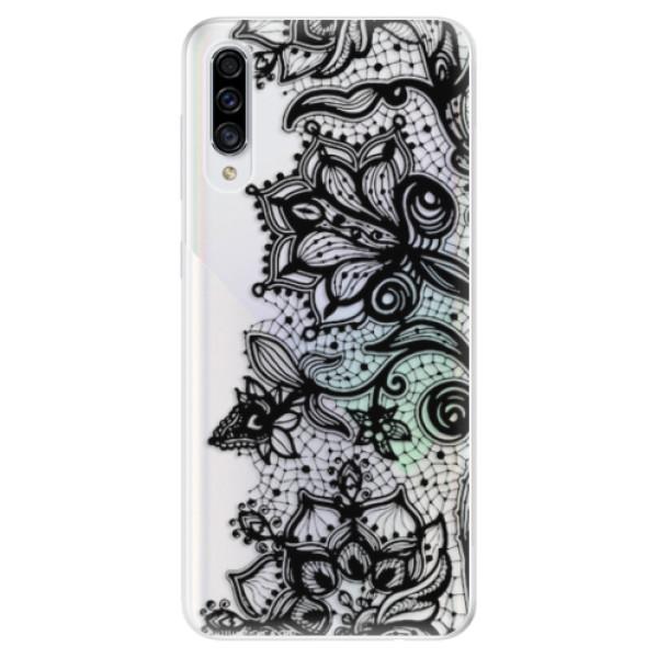 Odolné silikonové pouzdro iSaprio - Black Lace - Samsung Galaxy A30s