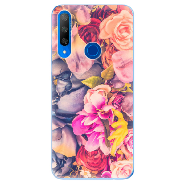 Odolné silikonové pouzdro iSaprio - Beauty Flowers - Huawei Honor 9X