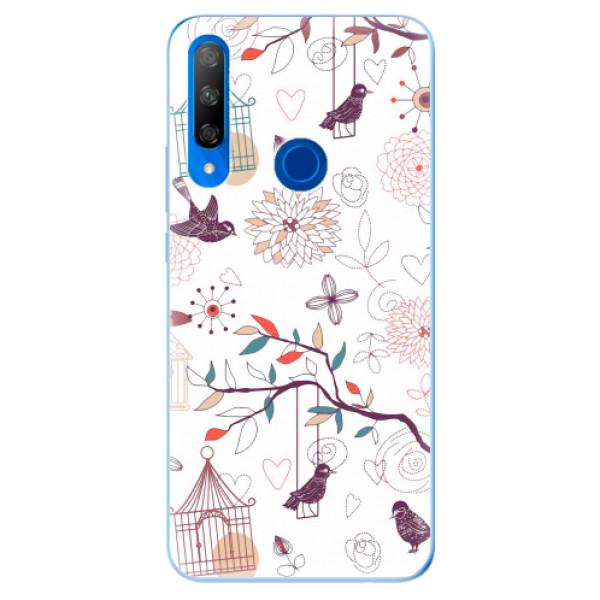 Odolné silikonové pouzdro iSaprio - Birds - Huawei Honor 9X