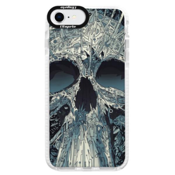 Silikonové pouzdro Bumper iSaprio - Abstract Skull - iPhone SE 2020