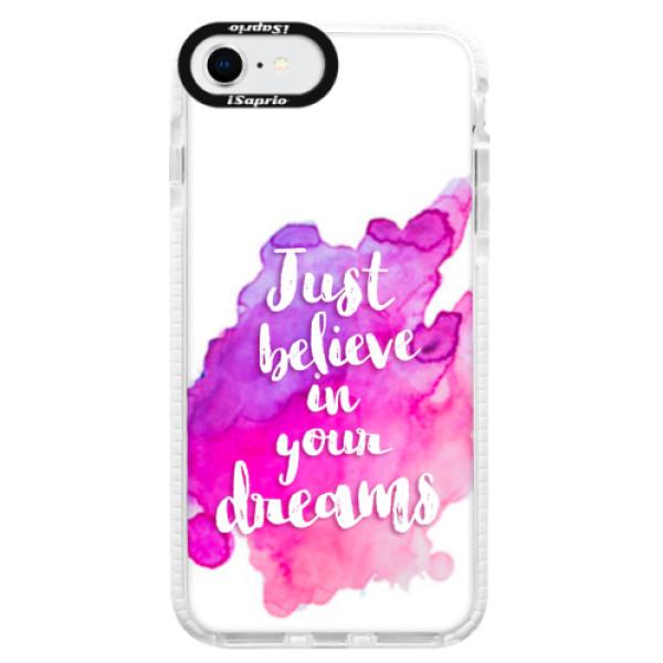 Silikonové pouzdro Bumper iSaprio - Believe - iPhone SE 2020