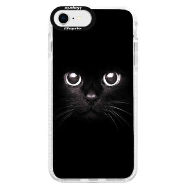 Silikonové pouzdro Bumper iSaprio - Black Cat - iPhone SE 2020