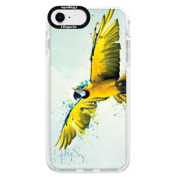 Silikonové pouzdro Bumper iSaprio - Born to Fly - iPhone SE 2020