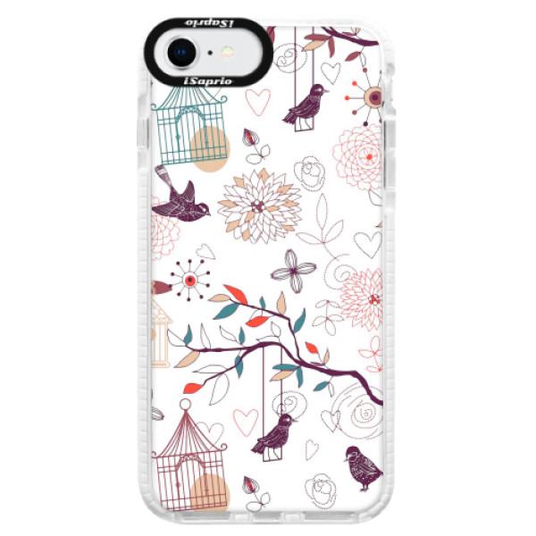 Silikonové pouzdro Bumper iSaprio - Birds - iPhone SE 2020
