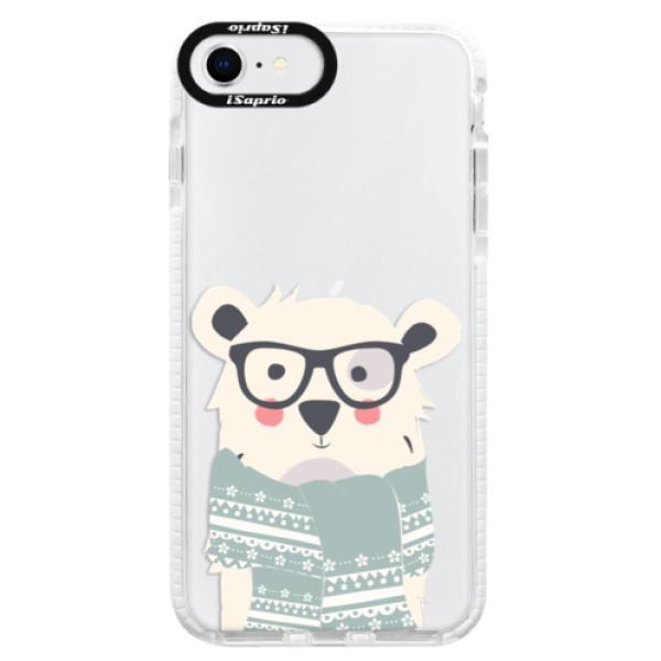 Silikonové pouzdro Bumper iSaprio - Bear with Scarf - iPhone SE 2020