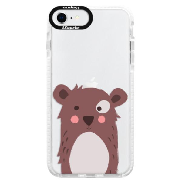 Silikonové pouzdro Bumper iSaprio - Brown Bear - iPhone SE 2020