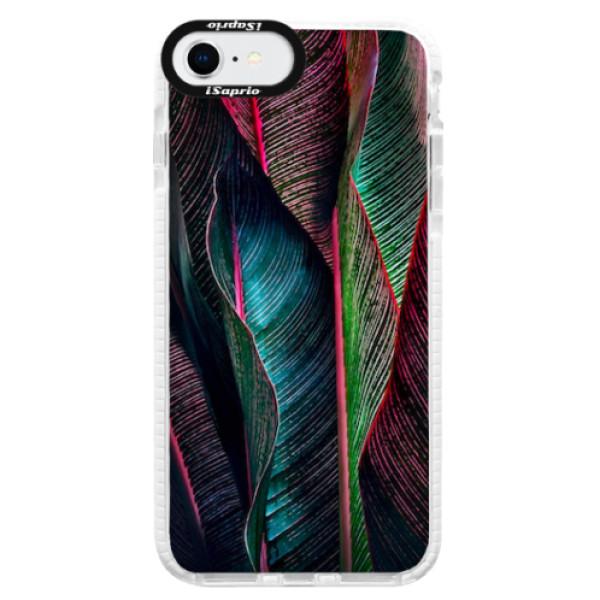 Silikonové pouzdro Bumper iSaprio - Black Leaves - iPhone SE 2020