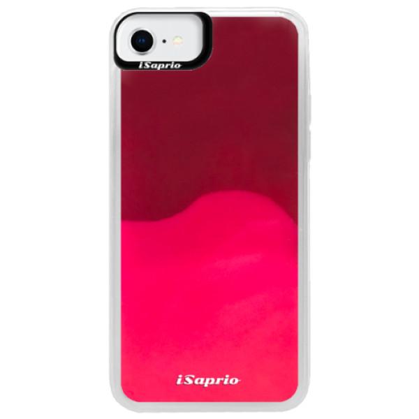 Neonové pouzdro Pink iSaprio - 4Pure - mléčný bez potisku - iPhone SE 2020