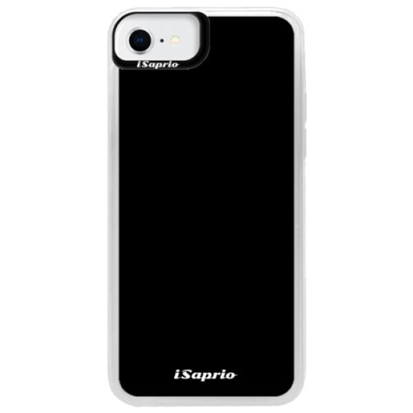 Neonové pouzdro Pink iSaprio - 4Pure - černý - iPhone SE 2020