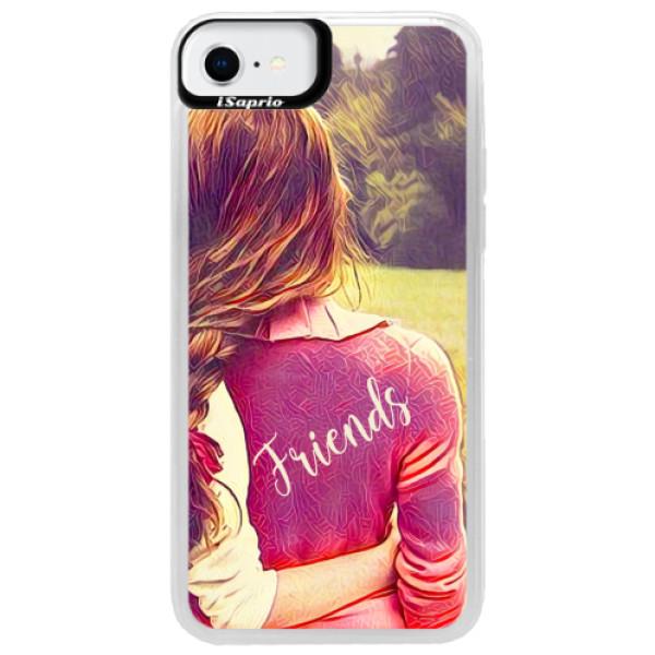 Neonové pouzdro Pink iSaprio - BF Friends - iPhone SE 2020