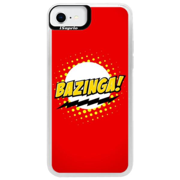 Neonové pouzdro Blue iSaprio - Bazinga 01 - iPhone SE 2020