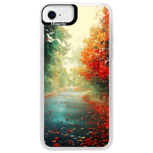 Neonové pouzdro Blue iSaprio - Autumn 03 - iPhone SE 2020