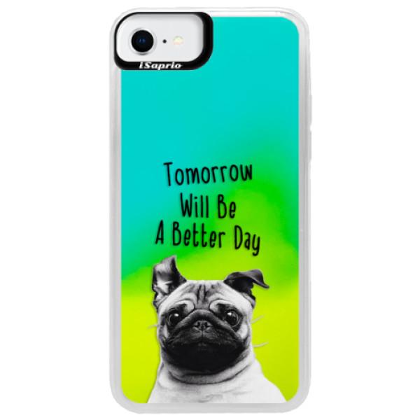 Neonové pouzdro Blue iSaprio - Better Day 01 - iPhone SE 2020