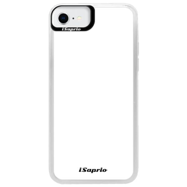 Neonové pouzdro Blue iSaprio - 4Pure - bílý - iPhone SE 2020